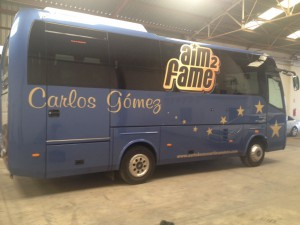 Autobús personalizado AIM2FAME